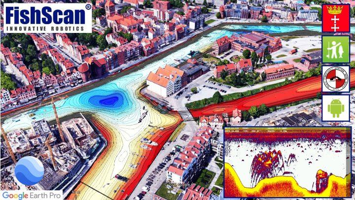 gdansk motlawa - mapa batymetryczna